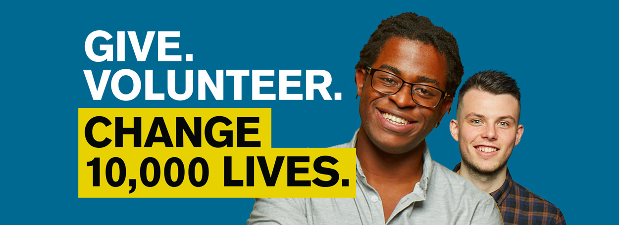 Give. Volunteer. Change 10,000 Lives.